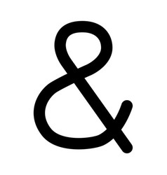 Ampersand black color icon vector