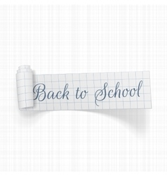 Back to School scroll paper Ribbon vector