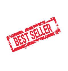 best seller stamp rubber seal red grunge label vector image