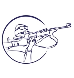 Biathlon logo vector