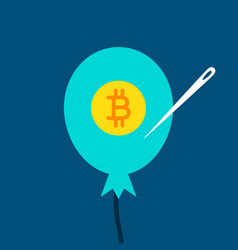 Bitcoin balloon concept vector
