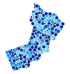 blue dot oman map composition vector image