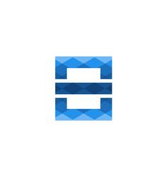 blue letter e modern logo design inspiration vector image