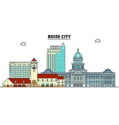 boise city united states flat landmarks vector image