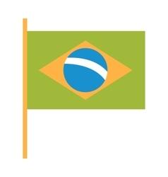 Brazil flag flat vector image