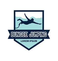 bungee jumping logo with text space vector image