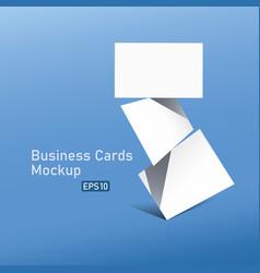 business card mockup design vector image