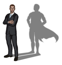 Businessman superhero concept vector