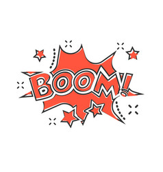 cartoon boom comic sound effects icon in comic vector image
