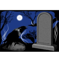 Cemetary night vector