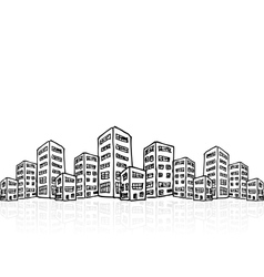 Cityscape sketch seamless vector image
