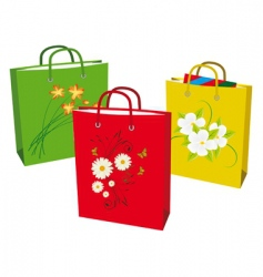collection bags for shopping vector image