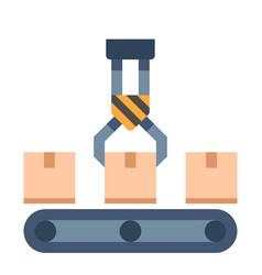 Conveyer flat vector