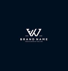 Creative letter w financial chart logo design vector