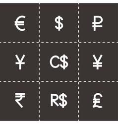 Currency symbol icon set vector image