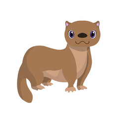 Cute fitch lovely animal cartoon character vector