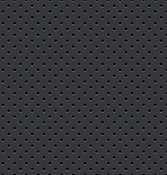Dark gray seamless perforated plate background vector