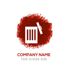 Delete icon - red watercolor circle splash vector