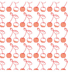 Delicious cherry healthy fruit background vector