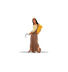 demeter sign mythological greek goddess vector image