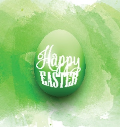 Easter egg on a watercolor background vector image