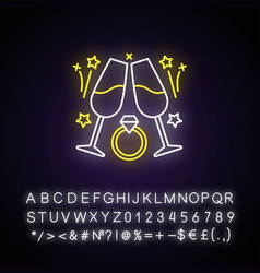 engagement party neon light icon vector image