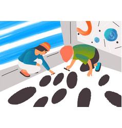 expressionist artists working together flat vector image