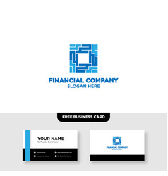 Finance logo and card template vector