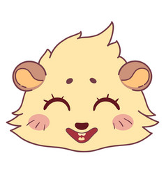 funny cavy smiling - emoticons icon smile girl vector image