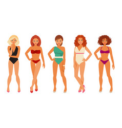 Girls in bikinis vector