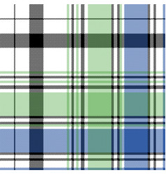 Green blue check plaid pixel seamless pattern vector