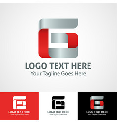 Hi-tech trendy initial icon logo g vector