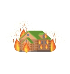 House On Fire Natural Forces Threat vector image