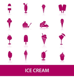 ice cream icons eps10 vector image