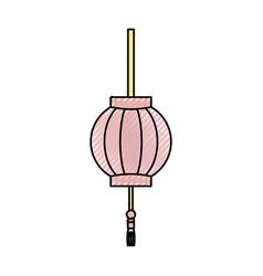 Japanese light lamp vector