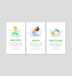 kids yoga health free classes landing page vector image