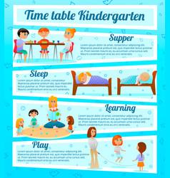 Kindergarten characters infographics vector
