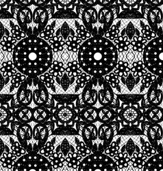Lace with circles and flowers vector