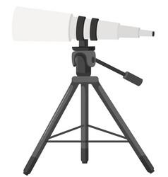 Large telescope on tripod vector