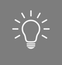 light bulb icon line isolated on gray vector image