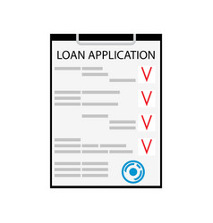 Loan application flat isolated on white vector