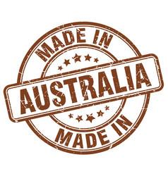Made in australia brown grunge round stamp vector
