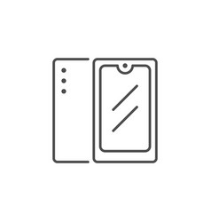 mobile phone or smartphone line icon vector image