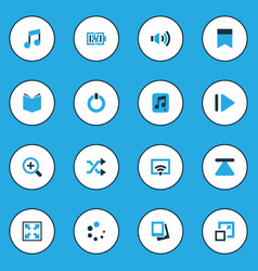 Multimedia colorful icons set collection of file vector