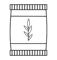 Plastic jar icon outline style vector image