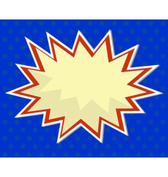 pop art comic background vector image