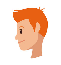 Profile young man cartoon people image vector