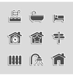 Real Estate Icons Set as Labels vector image