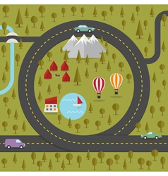 Road in the shape of heart vector image