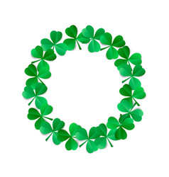Saint patricks wreath vector